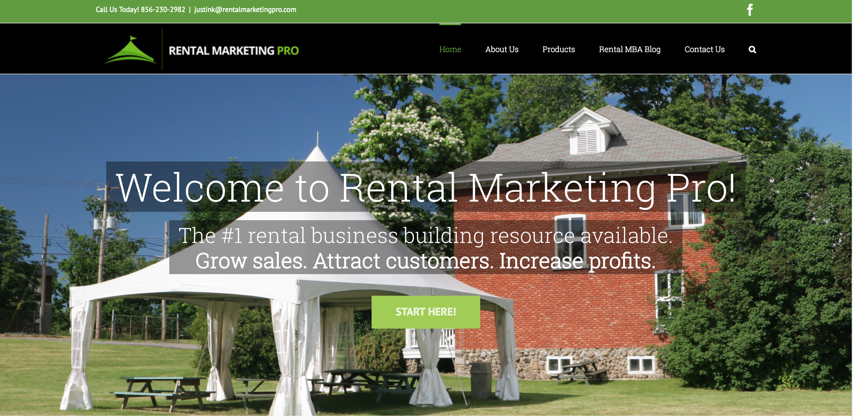 Rental marketing pro home page